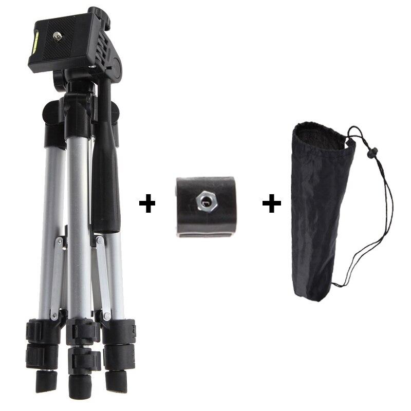 Alloyseed cámara profesional trípode con linterna holder trípode para teléfono trípode universal para cámara/teléfono móvil/Tablets