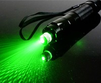 2in1 green laser pointer 20000m 532nm high power adjustable focus burning match lit cigarette with charger+box+ 1 laser head