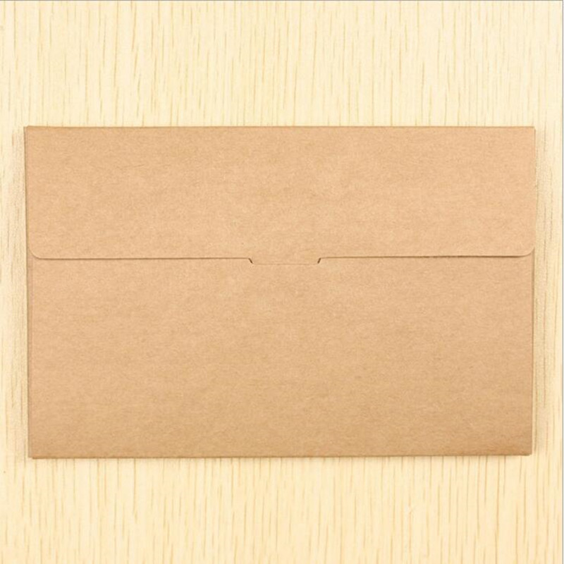 Image 2 - 50PCS/lot Vintage Hollow Design Black / White / Brown Kraft Paper Envelope Postcard Boxes Greeting Photo Post Card Package Bag-in Paper Envelopes from Office & School Supplies