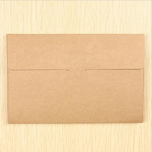 Image 2 - 50PCS/lot Vintage Hollow Design Black / White / Brown Kraft Paper Envelope Postcard Boxes Greeting Photo Post Card Package Bag