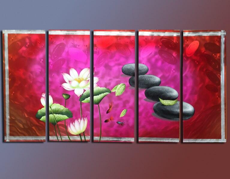 Online Shop Huge Original Art Painting Flower High Quality Metal Oil ...