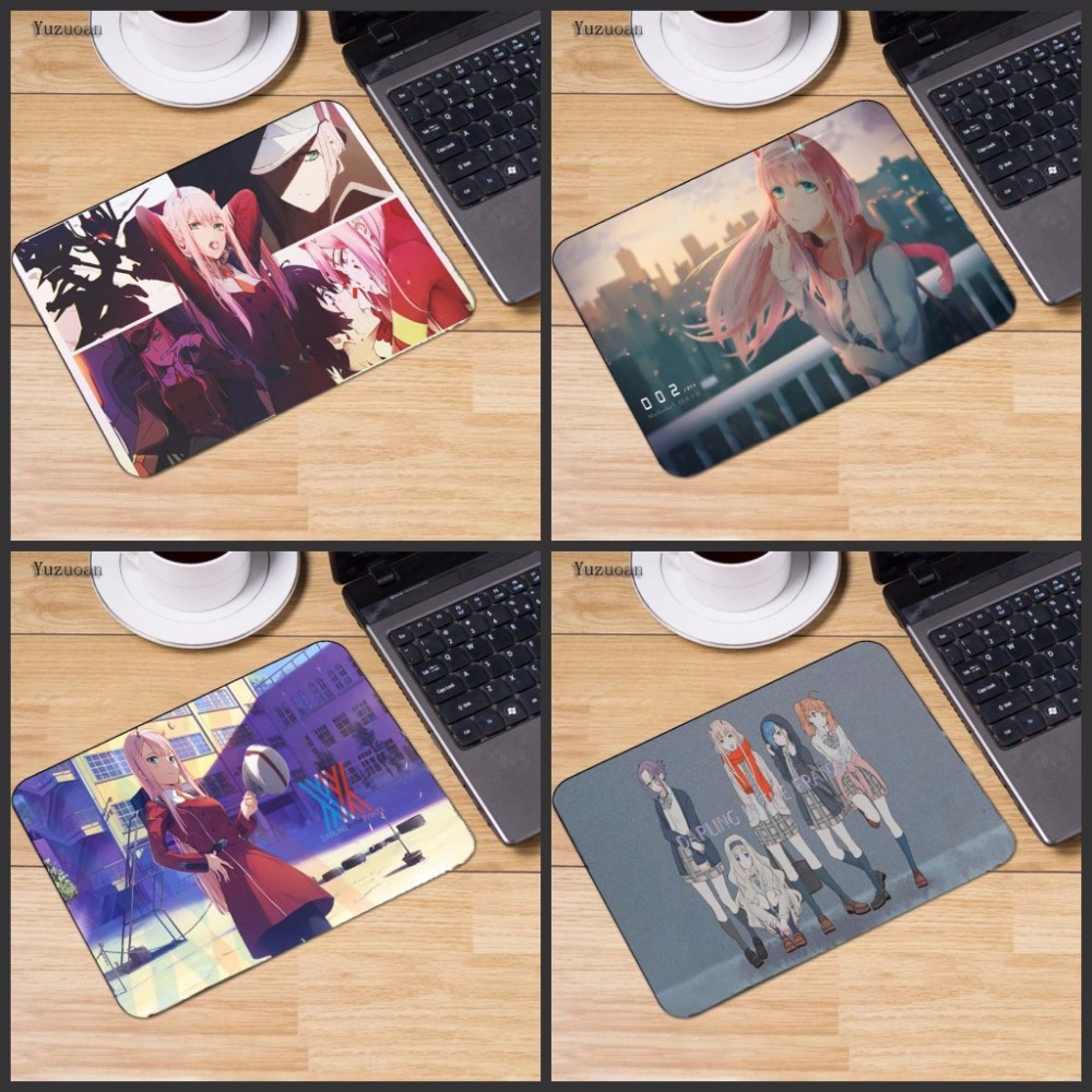 Yuzuoan 2018 Honey in the Franxx Darling small Gaming Keyboard Mouse pad PC Computer mat Size for 180x220x2mm and 250x290x2mm