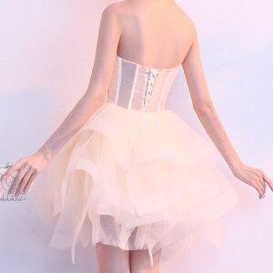 Image 5 - Robe sueur courte sans manches, robe de princesse demoiselle dhonneur soirée banquet, livraison gratuite, nouvelle collection