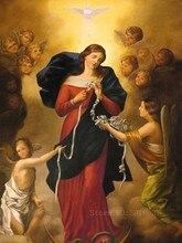 5D Diy Diamond Painting Cross Stitch Religious Virgin & Angel Babys Needlework Embroidery Full Mosaic Decoration
