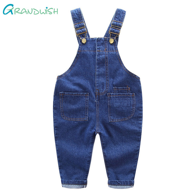 Grandwish New Boys and Girls Denim Jumpsuits Children Overalls Jeans Pants Kids Casual Jeans Pants Washing Pants 18M-6T, SC149