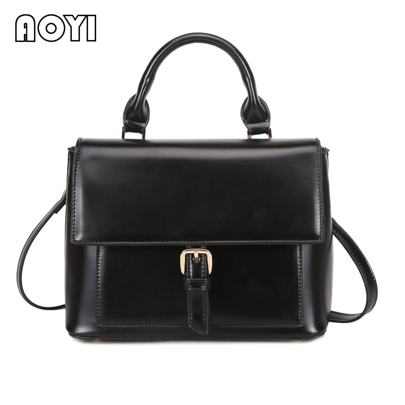 AOYI Luxury Handbags Women PU Leather Bags Ladies Portable Shoulder Crossbody Messenger Bag Office Bag Totes Famous Designer