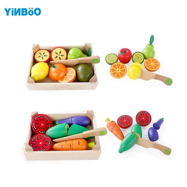 Giocattoli di Cucina in legno di Taglio Frutta Verdura Giocare ...