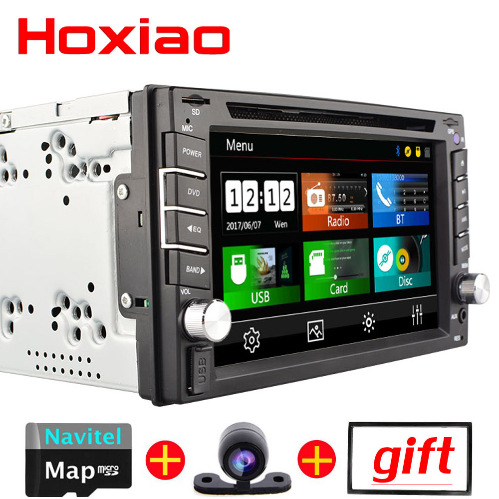 2 din Car dvd player Support reversing rear view Bluetooth USB SD Radio Gps For For