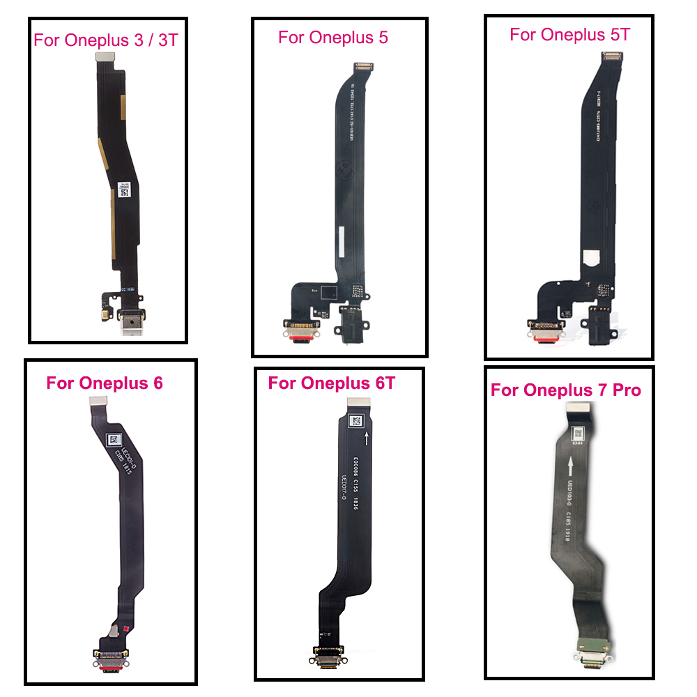 Type-c Charging Port For OnePlus 7 Pro Dock Connector USB Charging Port Flex Cable Replacement For One Plus 3 3T 5 5T 6 6T 7Pro