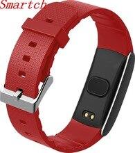 Smartch A86 Фитнес браслет, трекер активности водонепроницаемый IP67 часы кровяное давление кислорода сердце оценщик монитор Смарт Браслет