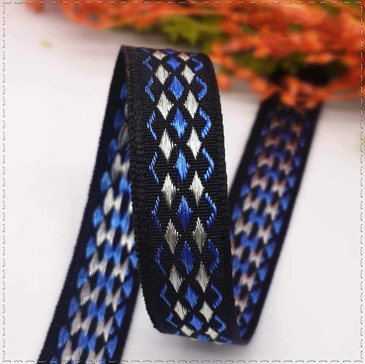 (1 Meter/lot) 12 Mm Single Face Woven Jacquard Grosgrain Pita Satin Diy Handmade Pakaian Jahit & Rambut Aksesoris Bahan