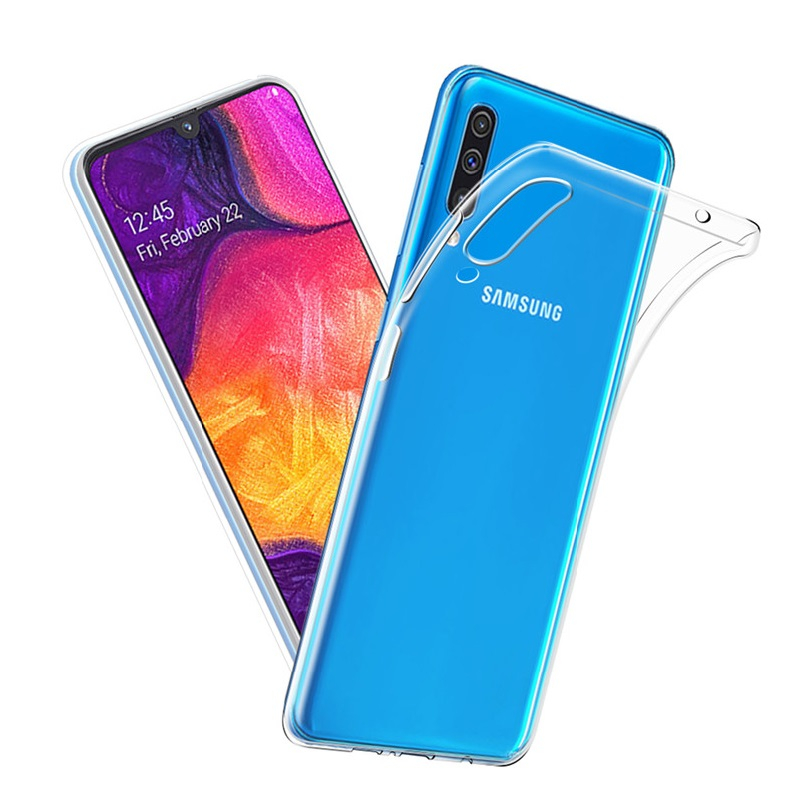 For Samsung Galaxy A50 Silicone Case Ultra Thin Transparent Clear Soft TPU Case for Samsung