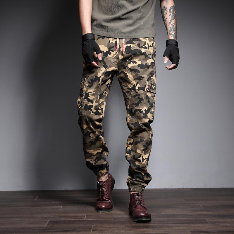 Herzhaft Neue Mens Casual Cargo Hosen Sommer Knöchel Banded Hosen Boot Cut 2019 Männer Mode Streetwear Camouflage Jogger Hosen Jungen Kleidung