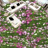 Free Shipping Stunning 3D Stereo Plant Flowers Green Grass Floor Painting Custom Self Adhesive Wallpaper Mural