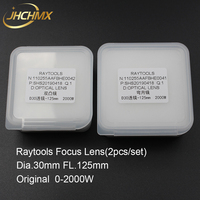 JHCHMX Raytools Original Focus Lens Dia.30mm FL.125mm 2000W For Raytools BT240/BT240S/BM109/BM111 Fiber Laser Cutting Head