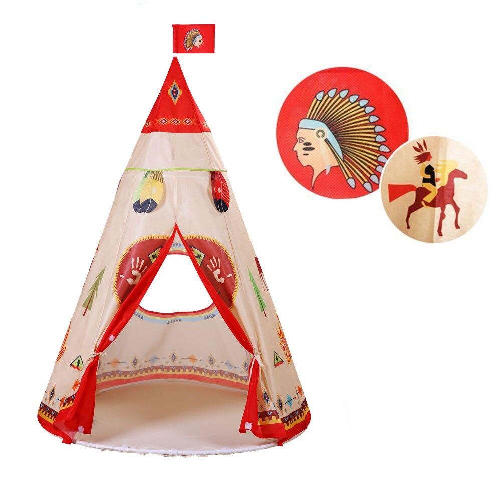 Enfants bébé tente jouets indien tente jouer maison Triangle imprimé Tipi enfants jouer tente Tipi pour bébé chambre jouet Ins jouets chauds 2017