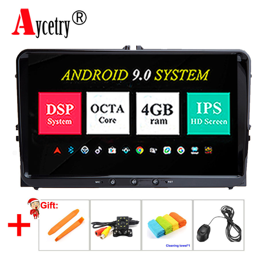 DSP IPS 2 din Android 9 Car radio Multimedia dvd GPS for VW Volkswagen Golf Polo