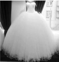 Amazing New Bling Luxury Crystals White Bandage Wedding Dress Bridal Wedding Gown Vestido De Noiva Robe De Mariage 2019
