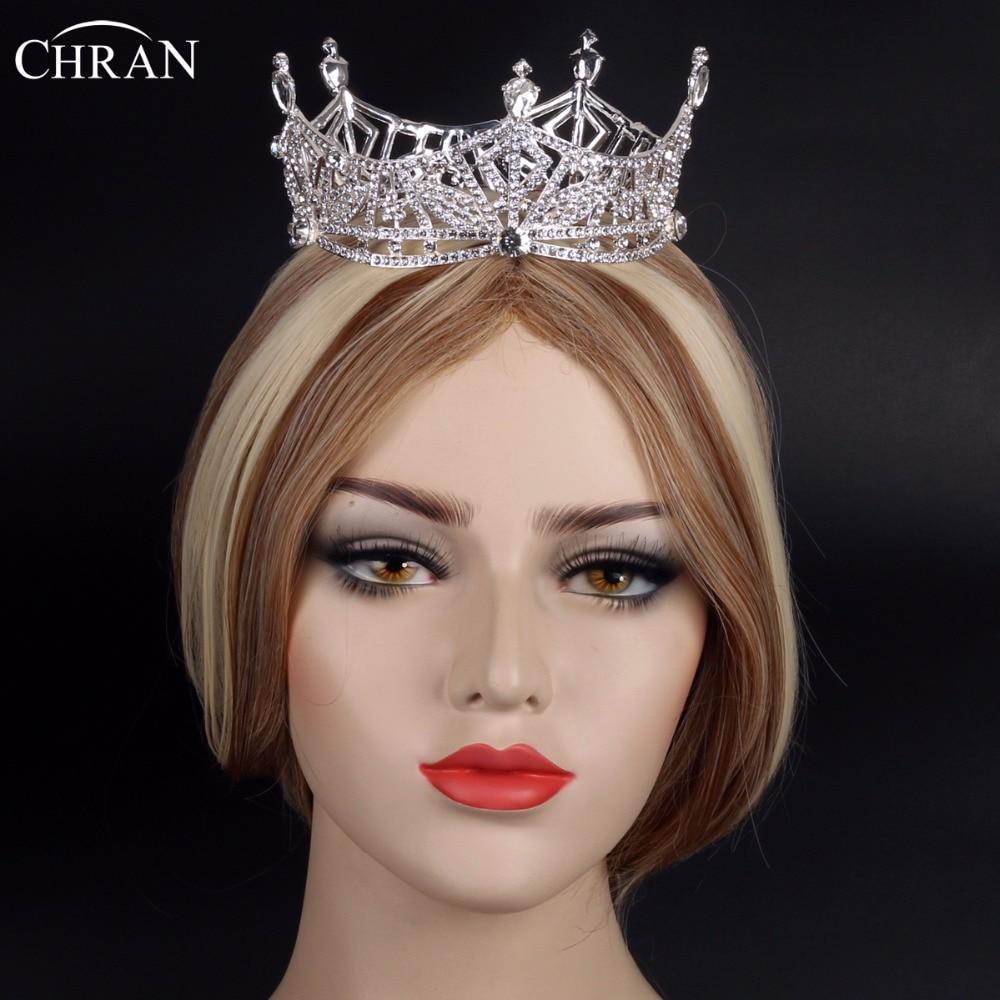 Chran Miss America Full Crown Austrian Rhinestone Tiaras