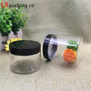 Image 3 - 30 pcs จัดส่งฟรี 50 100 150 180 200 250 ml ครีมขนมพลาสติกบรรจุภัณฑ์ขวดฝาปิดสีดำ Jar pill ภาชนะเครื่องเทศ Bank
