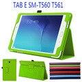 За Высокое Качество Стенд PU Кожаный Чехол для Samsung Galaxy Tab E 9.6 T560 T561 Tablet Case + Free Screen Protector + Стилус ручка