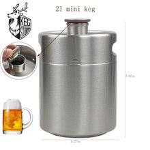 Newest 2L 64OZ KEG STORM 304 Stainless Steel Mini Keg Growler Portable Beer Bottle Making Bar Accessories Tool