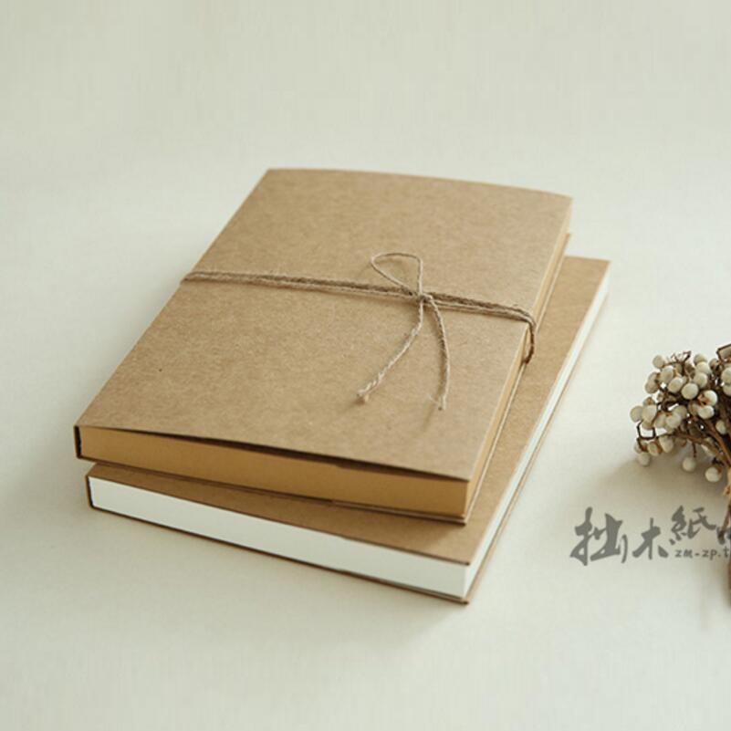16k Blank Vintage Notebook Cowhide Paper thick Sketch Book Sketchbook Daily Journal Diario Vintage; Can be opened 180 Degree 1 design laser cut white elegant pattern west cowboy style vintage wedding invitations card kit blank paper printing invitation