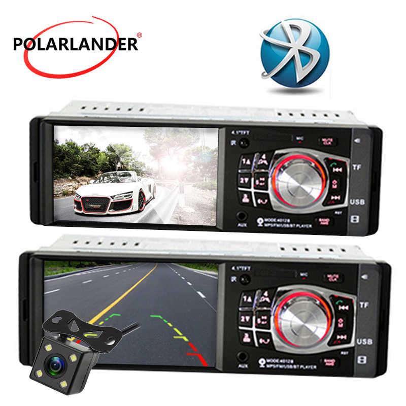 4.1 pouces Bluetooth voiture radio Support caméra arrière/FM/Aux/USB/TF MP5 lecteur 1Din volant télécommande stéréo
