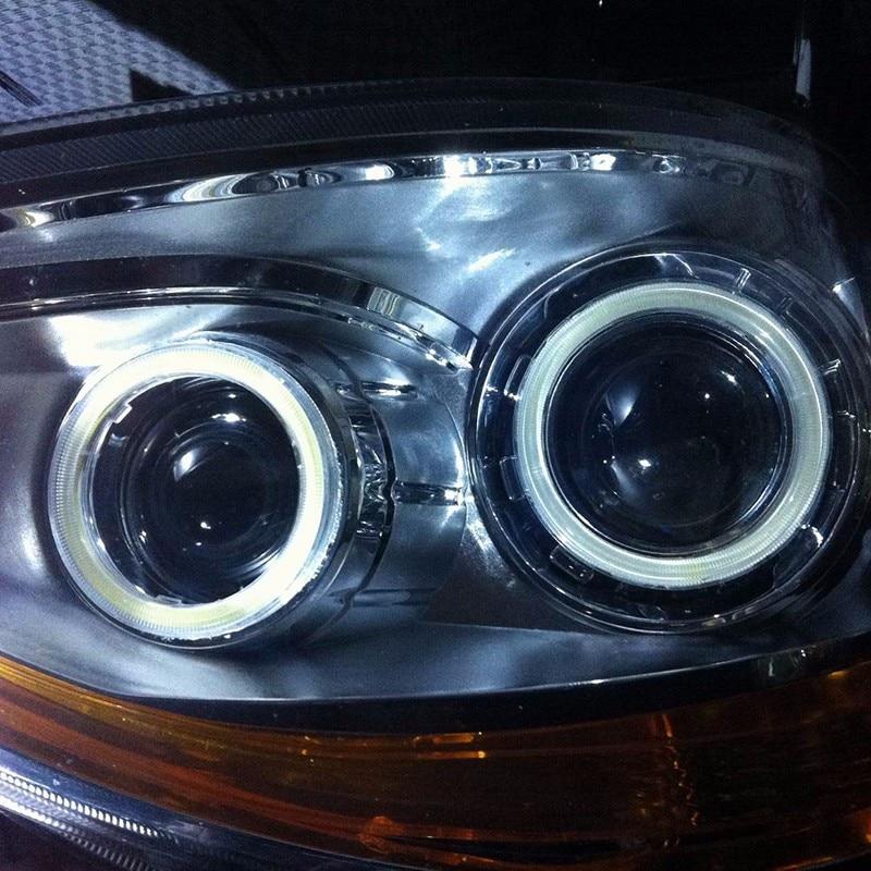 Par 12 V Halo Anéis Olhos de Anjo COB LED iluminação de realce - Faróis do carro - Foto 5