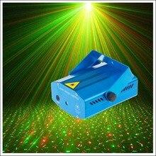 Mini LED Laser Pointer DJ Disco Club Stage Light Christmas Party Pattern Lighting Projector Show EU Plug & Tripod Free Shipping