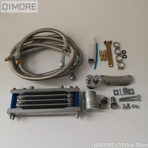 Image 2 - Performance Oil Radiator Set / Oil Cooler Set for 4 stroke Chinese Scooter GY6 50 125 150 139QMB 152QMI 157QMJ