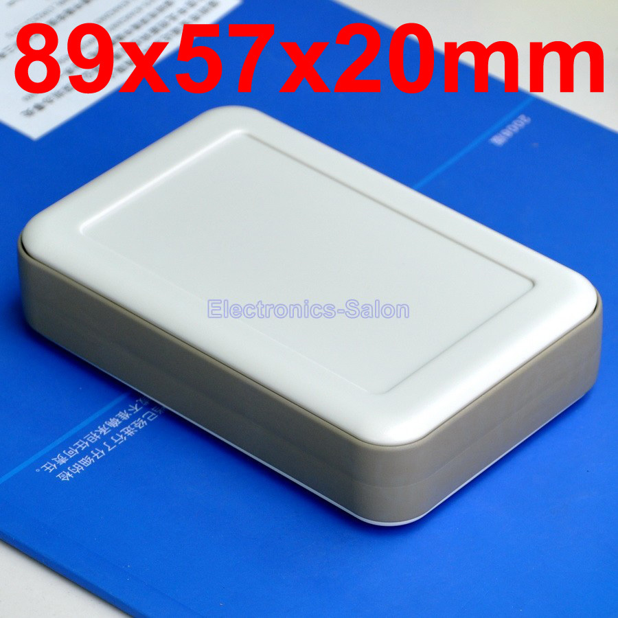 HQ Hand-Held Project Enclosure Box Case, White-Gray, 89 X 57 X 20mm.