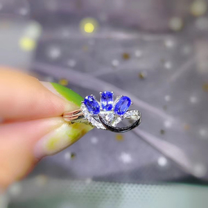 Image 5 - CoLife Jewelry Elegant Tanzanite Ring for Office Woman 3 Pieces 3*5mm Natural Tanzanite Silver Ring 925 Silver Tanzanite Jewelry