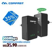 2 шт./пара 500 мбит мини plc powerline comfast cf-wp500m сети модем homeplug ethernet ес power line адаптер powerline комплект