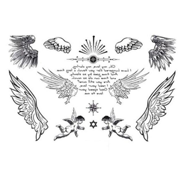 yeeech temporary tattoos sticker for women fake small angel wings