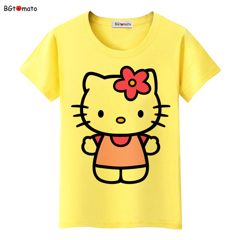 6bb18bd84877 BGtomato Hello Kitty lovely cartoon T-shirts women summer cool clothes  Brand Good quality tops comfortable casual shirts