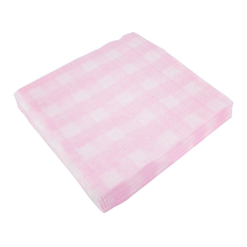HTHL! 20 Pcs Disposable Square Pink Face Wash Clean Cloth