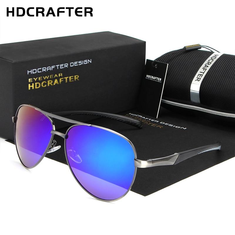 HDCRAFTER Polarized Lens Mens Sunglasses Mirror Coating Brand Design Sun Glasses Goggle Eyewear Accessories For Men Female