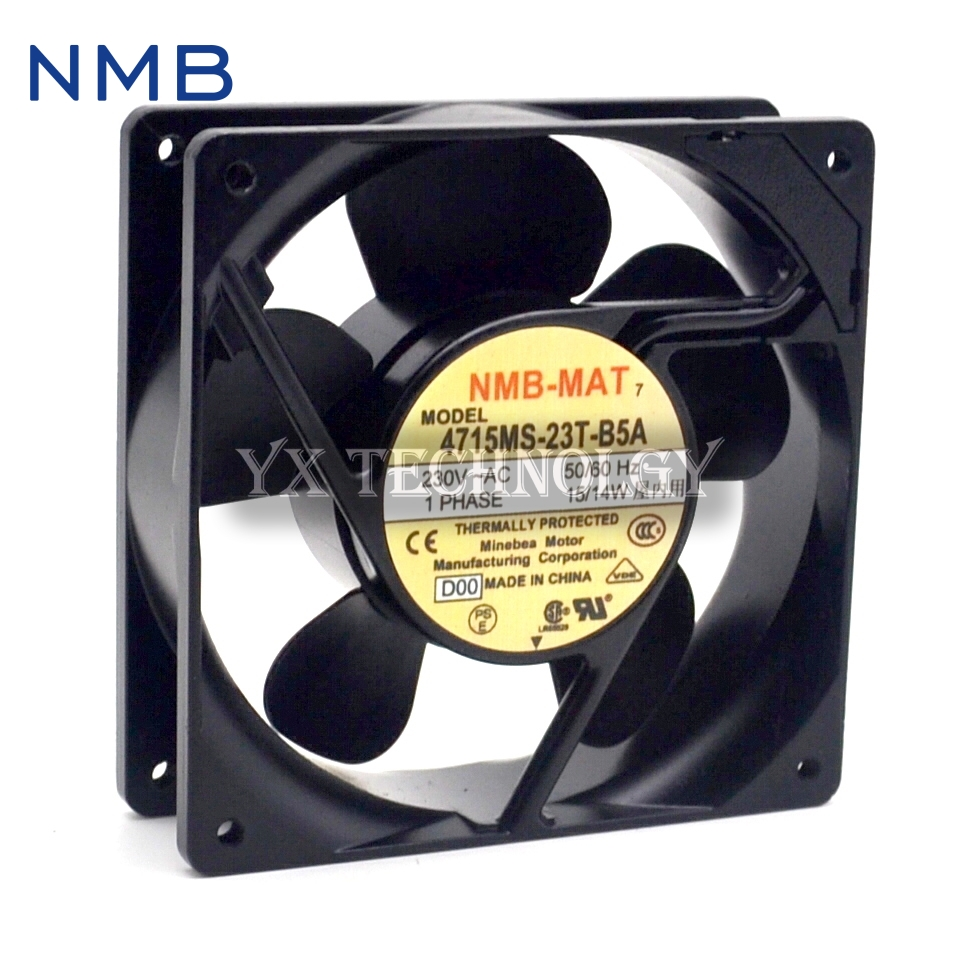 Free Shipping New Original NMB 4715MS-23T-B5A 12CM 120mm 12038 230V AC case industrial cooling fans delta 12038 120mm 12cm ffb1212vhe dc 12v 1 5a 24w 4wire violence server industrial case cooling fans