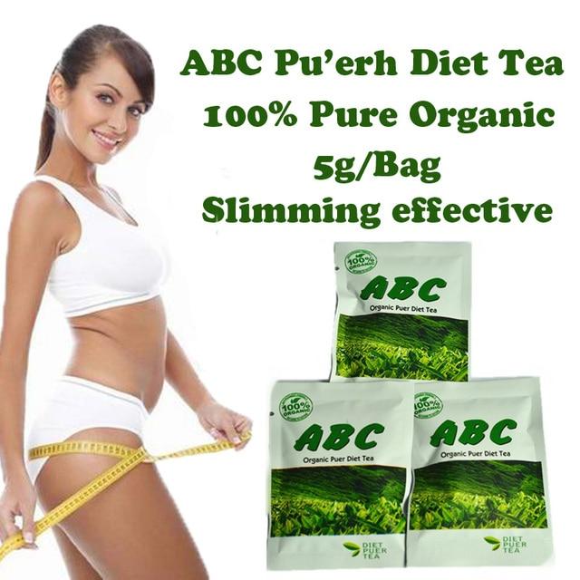 ( 30 bags ) ABC diet tea Puerh slimming herb tea weight loss burn fat effective for women Free Shipping