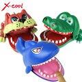 X-cool Большой Бульдог Крокодил Акулы Рот Стоматолог Укус Пальца Игры Забавные Новинка Gag Игрушки для Детей Дети Игры весело