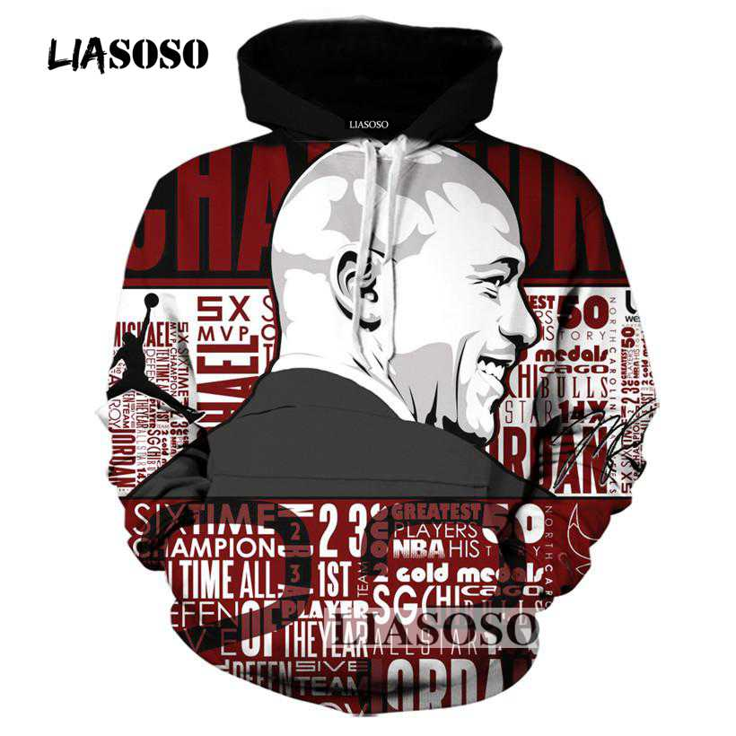 33d940876c59 LIASOSO Dynasty of Bulls Triple Crown Jordan Men 3D Hoodie Sweatshirt  Pullovers Autumn Tracksuit Streetwear Thin Hoody Top R4018-in Hoodies    Sweatshirts ...