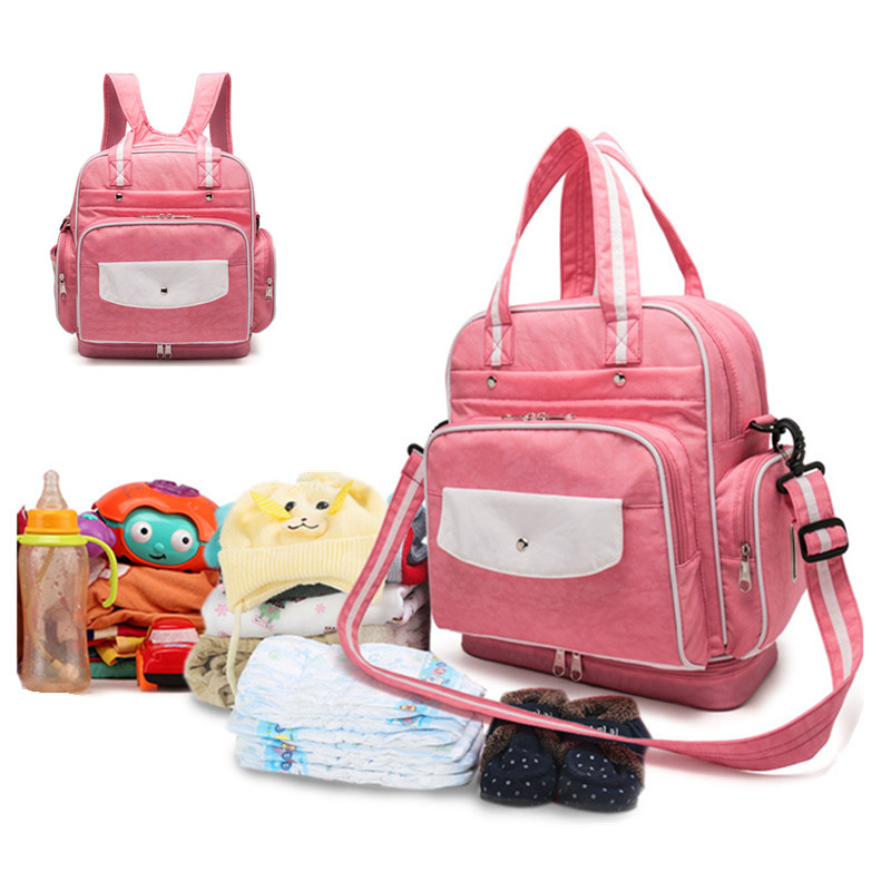ФОТО Large Capacity Mommy Travel Nappy Diaper Backpack Waterproof Recycle Multifunction Stroller Changing Pad Backpacks Bag
