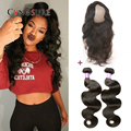 360 Lace Frontal With Bundle Peruvian Body Wave With 360 Lace Frontal Closure 3Pcs/lot Pre Plucked 360 Frontal With Bundles