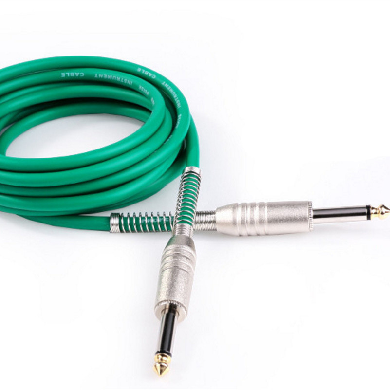 6.35mm Male Angled Metal Plug Anti-Interference Performance Cable Electric Guitar Line Bass Line Instrument Cable image