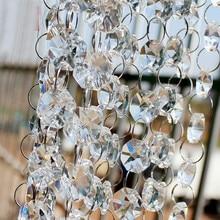 33 Feet/Roll K9 Brilliant Crystal Pearl Pavillion Ladders Bead Rolls Hanging for Wedding Event Decoration Pairs Pendant Ornament
