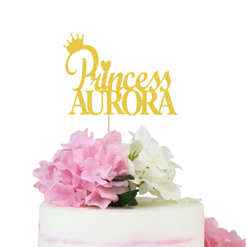 Princess Cupcake Topper Glitter Paper Crown Cupcake Topper Birthday Party Decorations Party Supplies Princess Party Decor
