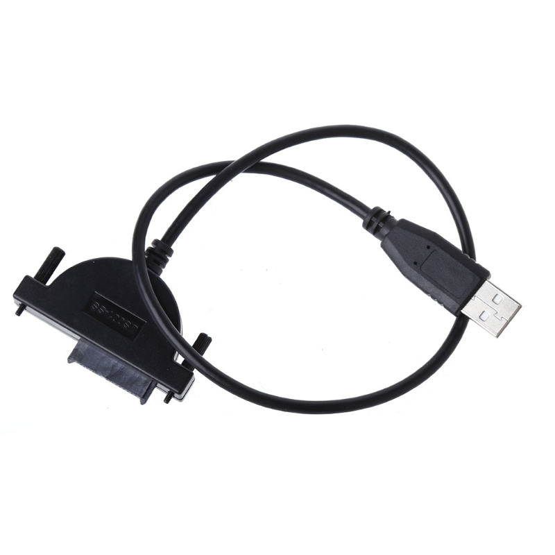USB 2.0 to Mini Sata II 7+6 13Pin Adapter Converter Cable Screws steady style for Laptop CD/DVD ROM Slimline Drive #4XFC# weijinto 100pcs usb 2 0 to mini sata ii 7 6 13pin adapter converter cable for laptop cd dvd rom drive fast ship by dhl ems