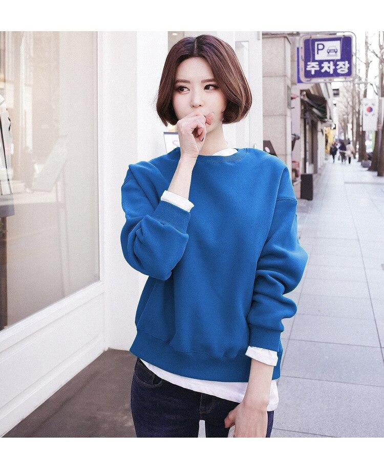 Unicornio venta de las mujeres coreanas envío gratis 2019 ropa de otoño e invierno costura de cuello redondo Camiseta Casual de las mujeres