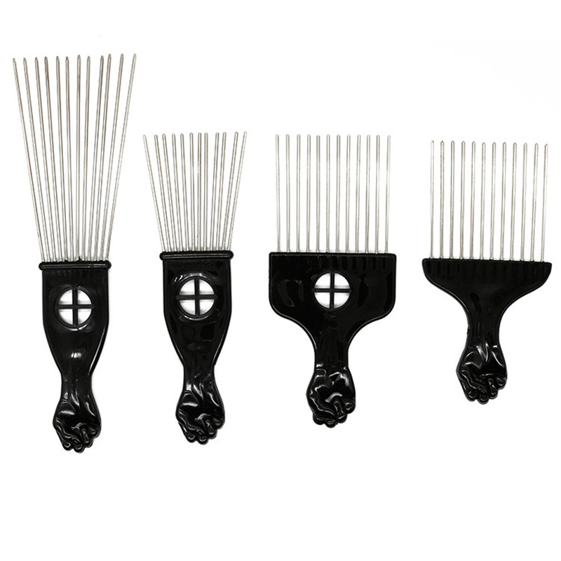 Cotton Combs Hairdresser Clips Haircomb Black Cotton Fabric Print BTY D777.17